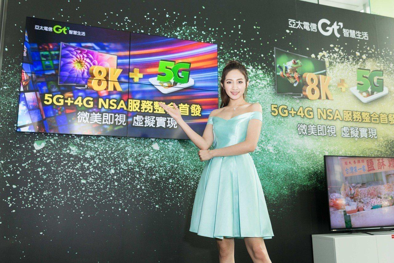 亞太電攜大廠秀8K+5G實況應用。圖/亞太電提供