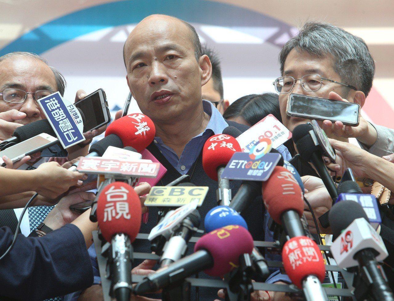 2020總統大選呼聲極高的高雄市長韓國瑜,被問到朱立倫相關說法的回應時,韓僅回「...