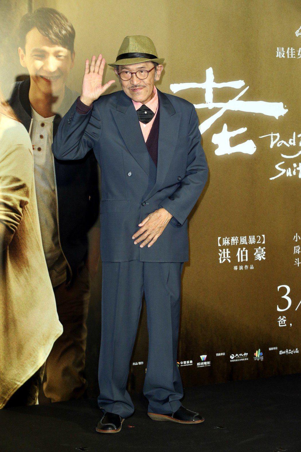 電影老大人首映會,演員小戽斗老當益壯喜感十足。記者林俊良/攝影