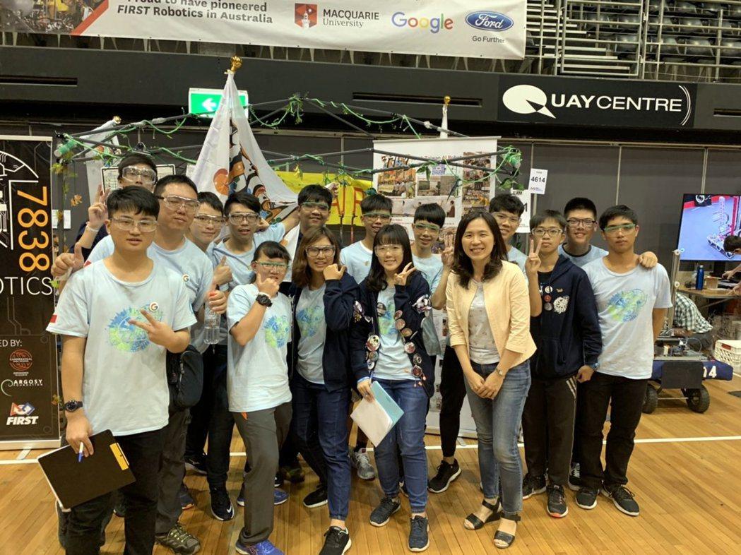 高雄市高中學生團隊奪世界機器人區域賽冠軍。 高雄市政府教育局/提供