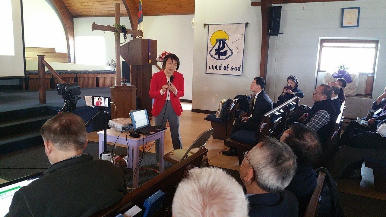 台灣大學社會學系副教授范雲演講。 記者呂賢修/攝影