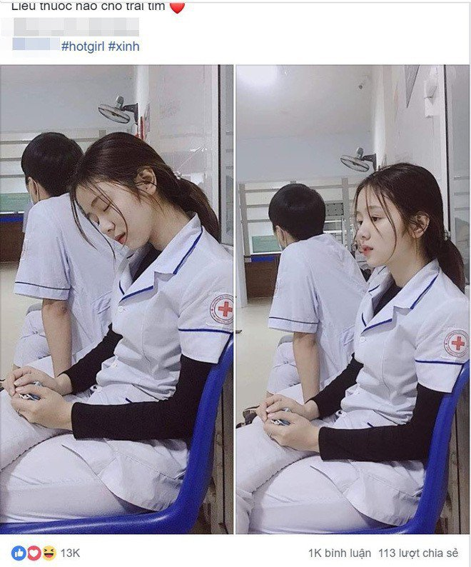這位正妹護理師的照片在網路上瘋傳。圖/擷自臉書