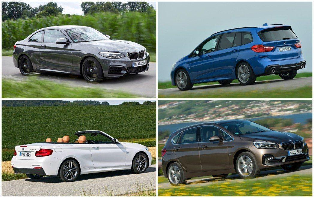 目前BMW 2 Series的成員相當多元,包括Coupe (F22)、Conv...