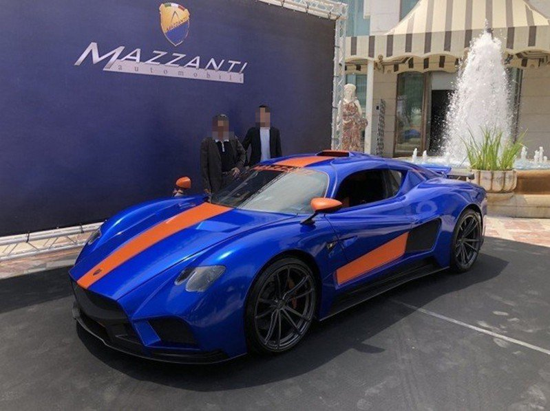 全台第一輛義大利車廠手工打造的Mazzanti Evantra 771,要價近億元,去年被傳產業陳姓少東引進台灣,並在台中市西屯區成立經銷據點。圖/本報資料相片