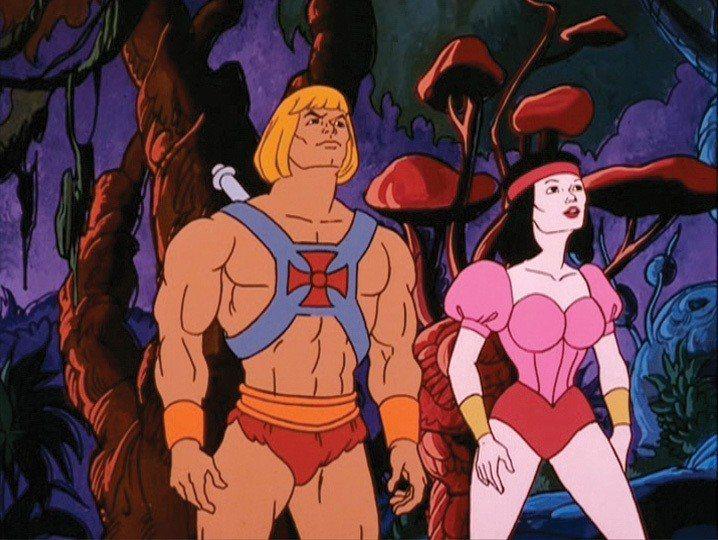 卡通「太空超人」男主角外型就被設定成標準肌肉男。圖/摘自imdb