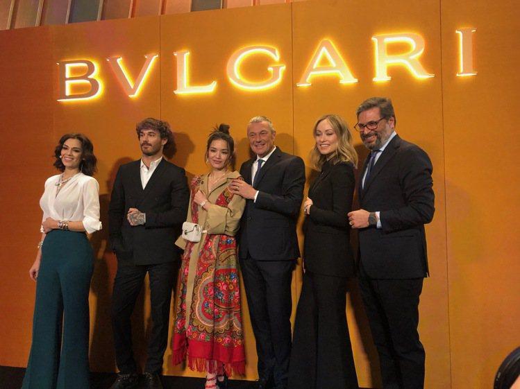 寶格麗在瑞士巴塞爾表展的全球記者會,包括藝術家(左二起)David Alexan...