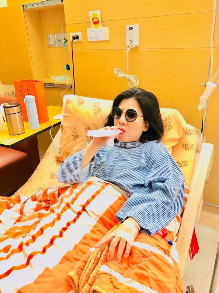 陳文茜剛動完肺腺癌手術。圖/摘自臉書