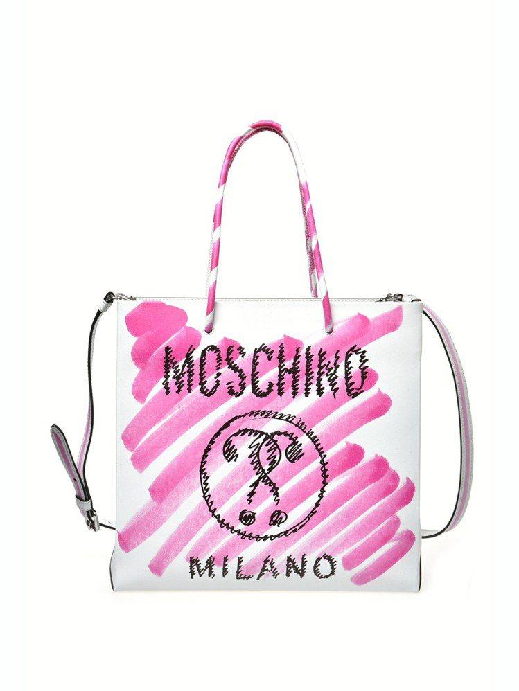 Moschino塗鴉托特兩用包,43,800元。圖/Moschino提供