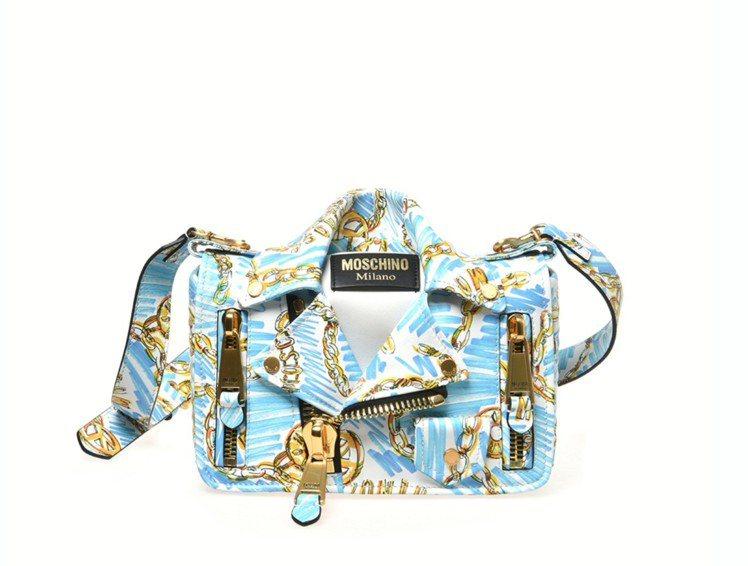 Moschino塗鴉皮夾克背包,78,300元。圖/Moschino提供