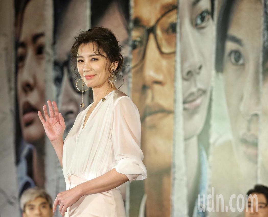賈靜雯出席「我們與惡的距離」記者會。記者鄭清元/攝影