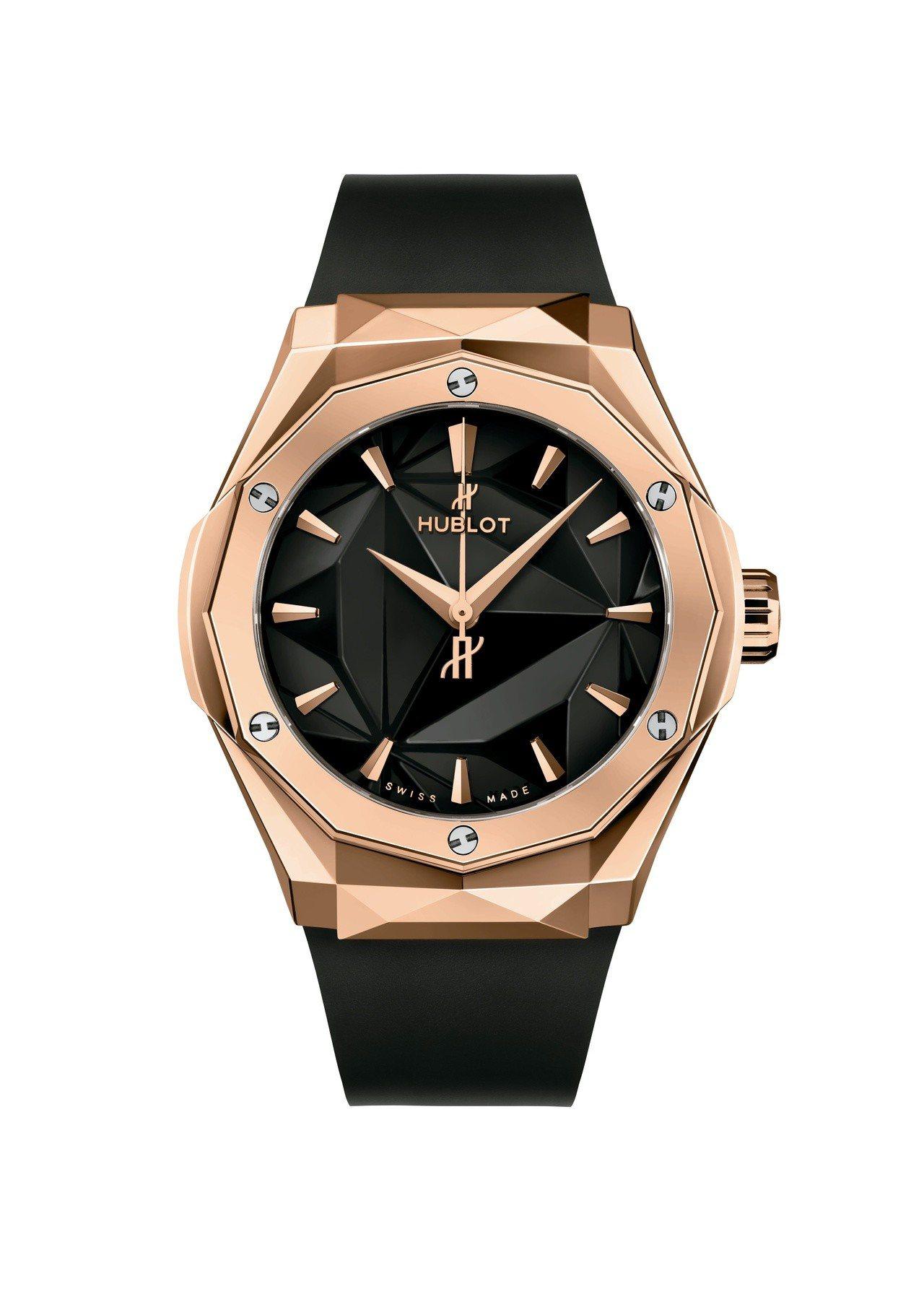 宇舶經典融合系列Orlinski聯名腕表,皇金表殼,全球限量100只,價格未定。...