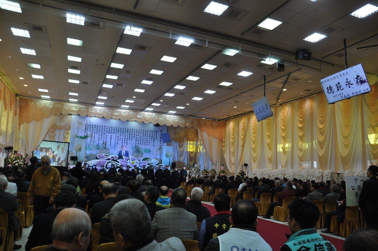圖為桃園殯儀館天德廳舉行告別式的場面。圖/聯合報系資料照