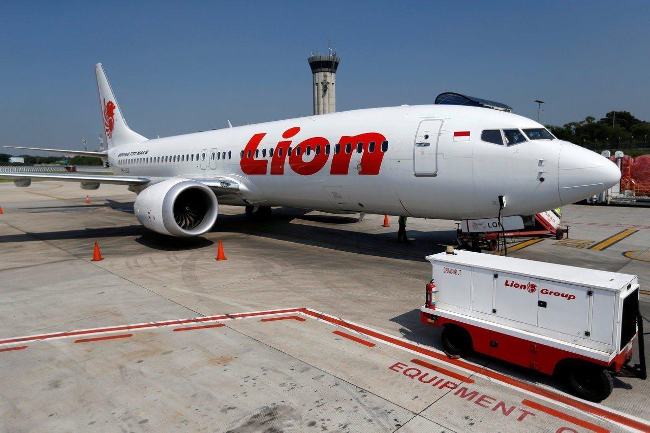 印尼獅航一架波音737MAX客機去年10月墜毀,圖為同型客機。(路透)