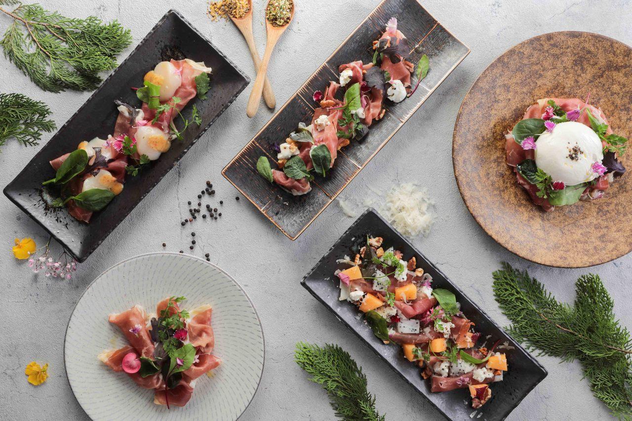 乾杯集團自3月21日起,推出一系列使用義大利帕瑪生火腿所製作的開胃料理。圖/乾杯...