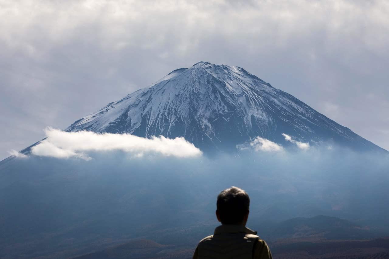 日本政府模擬富士山再度噴發可能造成的傷害。 法新社