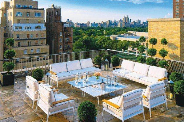 馬克酒店頂層套房另一賣點為可俯瞰紐約城景的私人露台。 圖/各業者提供