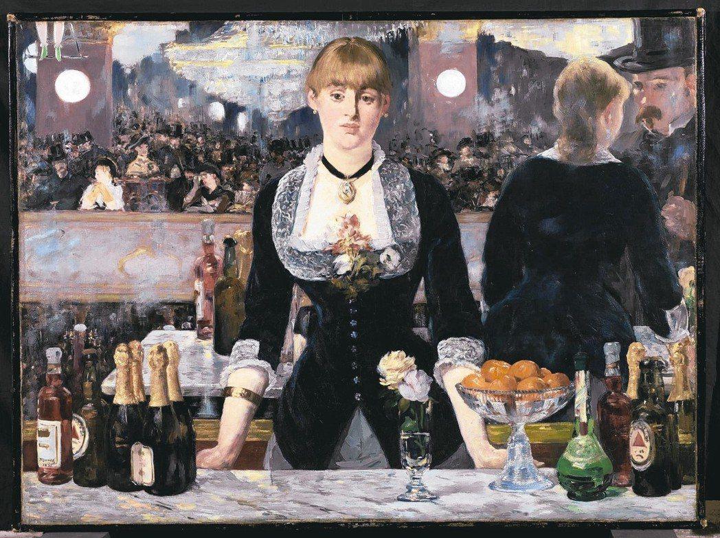 路易威登基金會展出馬奈畫作《佛利貝爾傑酒店》。 圖/LV提供