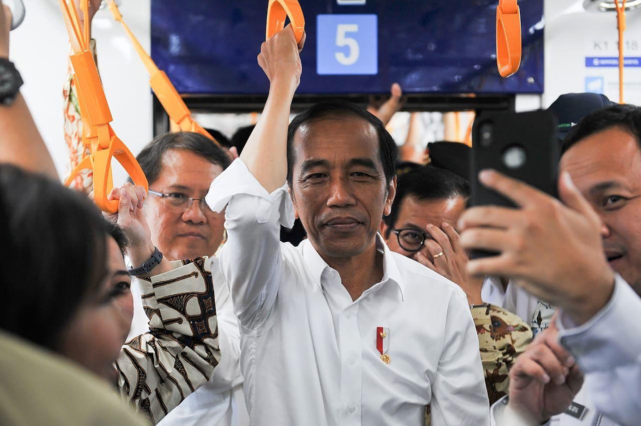 印尼現任總統佐科威。法新社