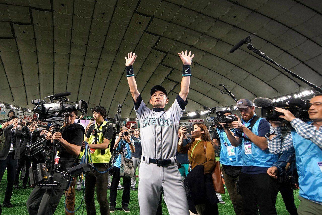 鈴木一朗在日本退休。 路透