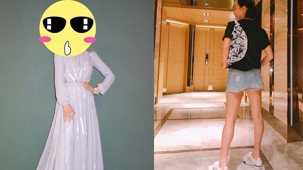 惠英紅擁有一雙大長腿。圖/擷自ig