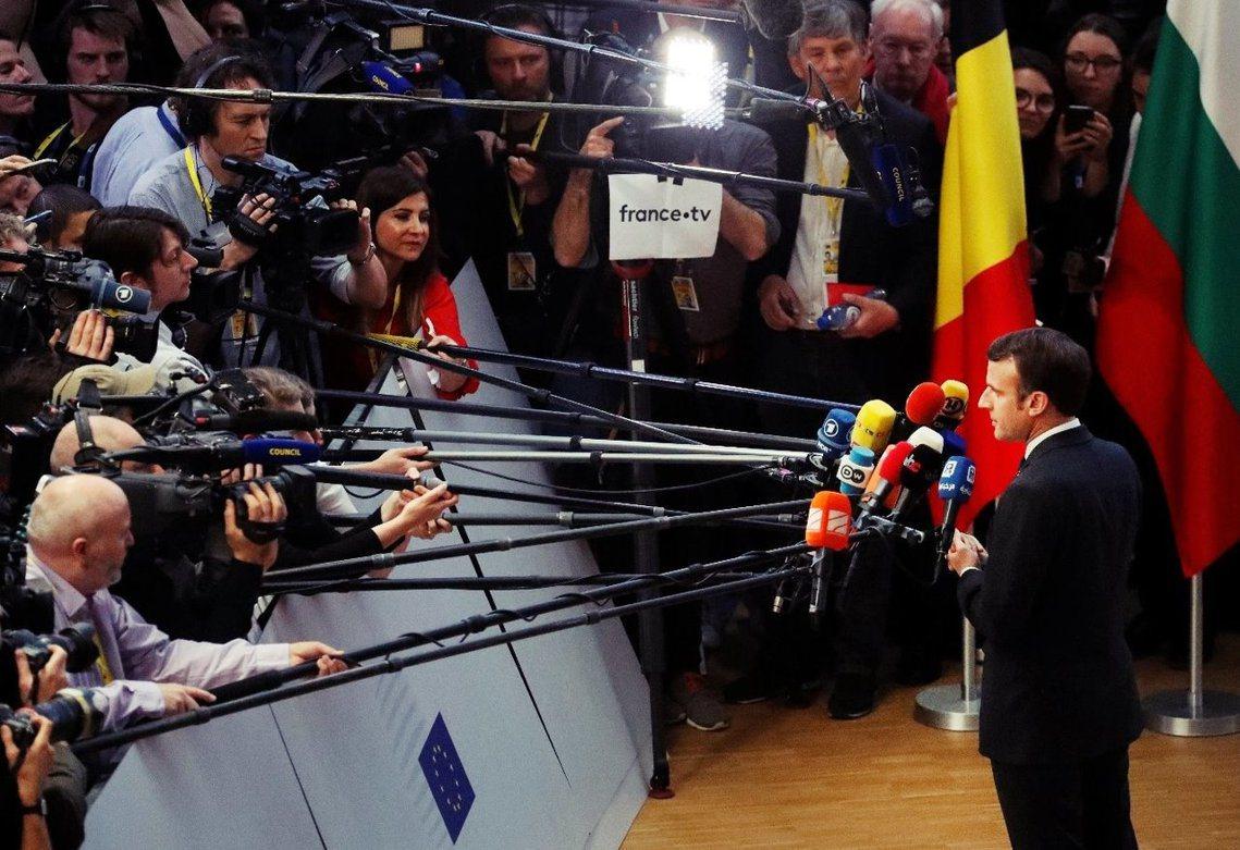法國總統馬克宏(Emmanuel Macron)表示:「脫歐確實是一場迫切的政治...