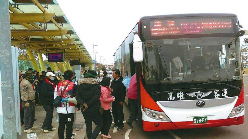 高雄公車示意圖。 圖片來源/聯合報系