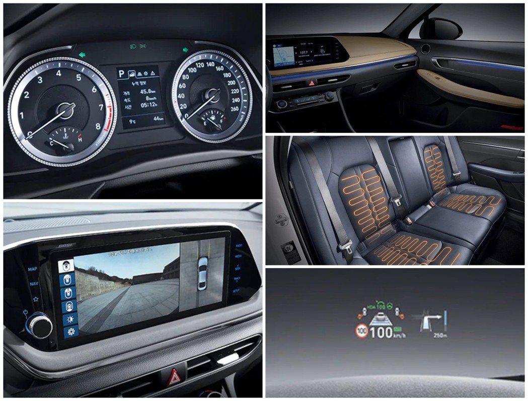 第八代Hyundai Sonata除了有環景顯示、座艙氣氛燈外,就連後座也提供了...
