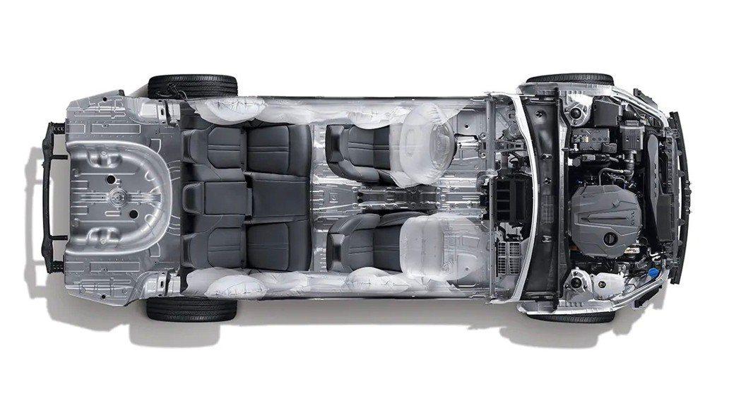 第八代Hyundai Sonata搭載Hyundai全新第三代車型平台。 摘自H...