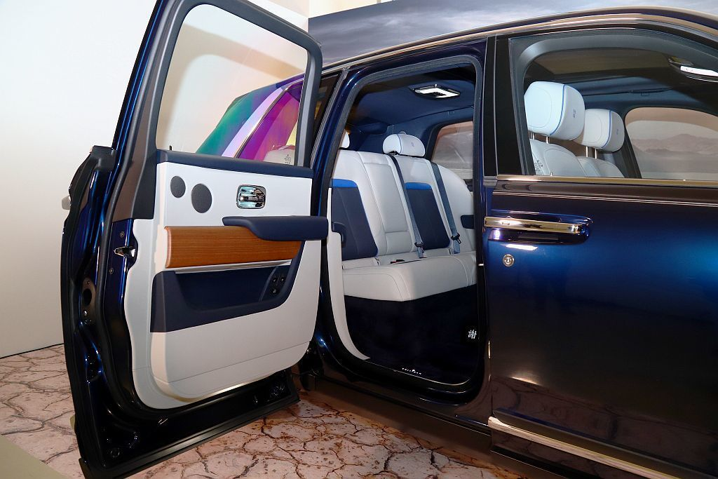 勞斯萊斯汽車總代理盛惟首度在台亮相五座Cullinan。 記者張振群/攝影