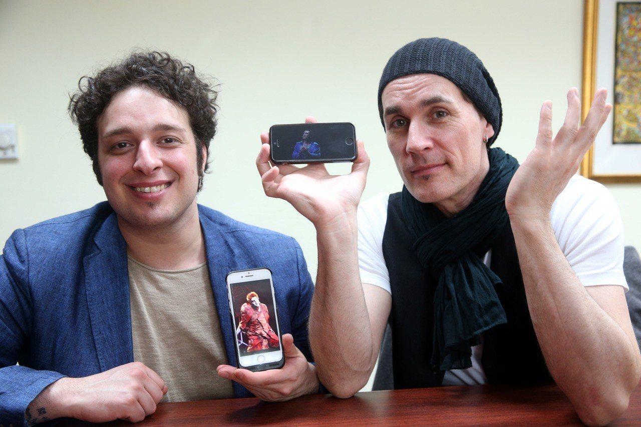 「鐘樓怪人」20周年全球巡演,兩位男主角Angelo(左)與Richard秀出手...