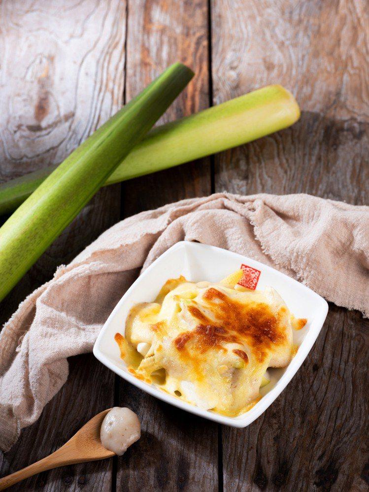 春水堂新餐點松露白醬焗雙蔬。圖/春水堂提供