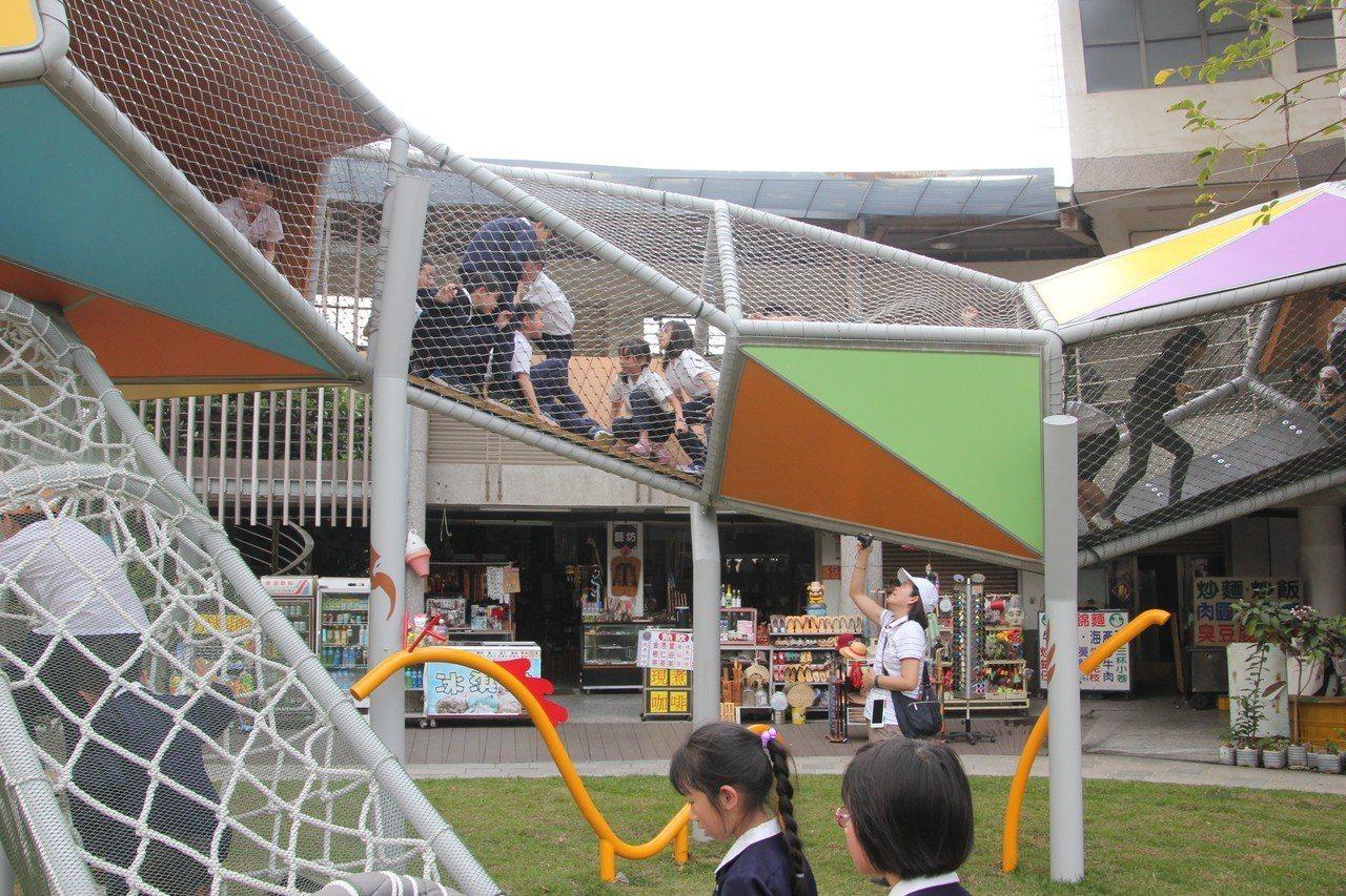 八卦山打卡新景點 公共裝置藝術八卦龍可爬可玩