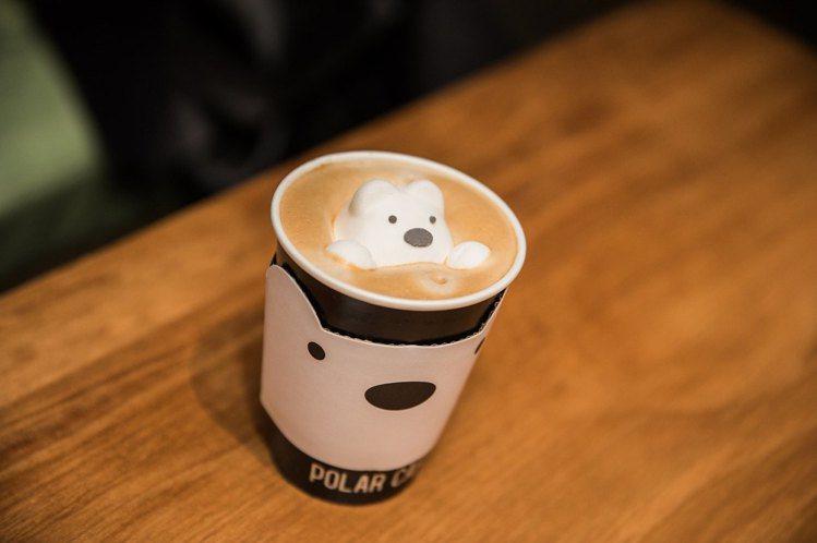 Polar Cafe北極熊咖啡超萌。圖/Polar Cafe提供