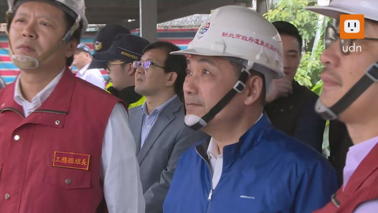 新北市長侯友宜今天(22日)下午親自帶隊拆除在板橋區大觀路一段的違章建築。