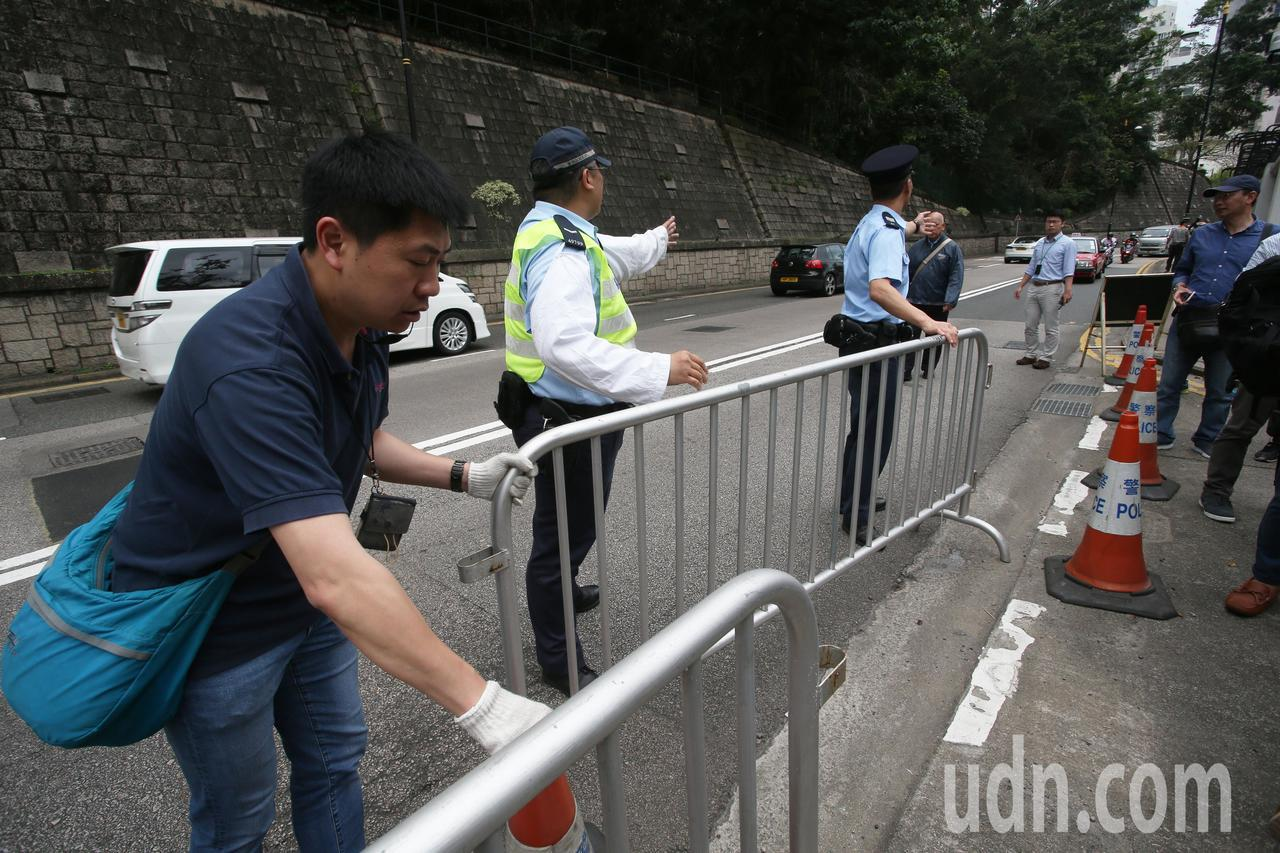 高雄市長韓國瑜出訪香港,香港禮賓府戒備森嚴。記者劉學聖/攝影