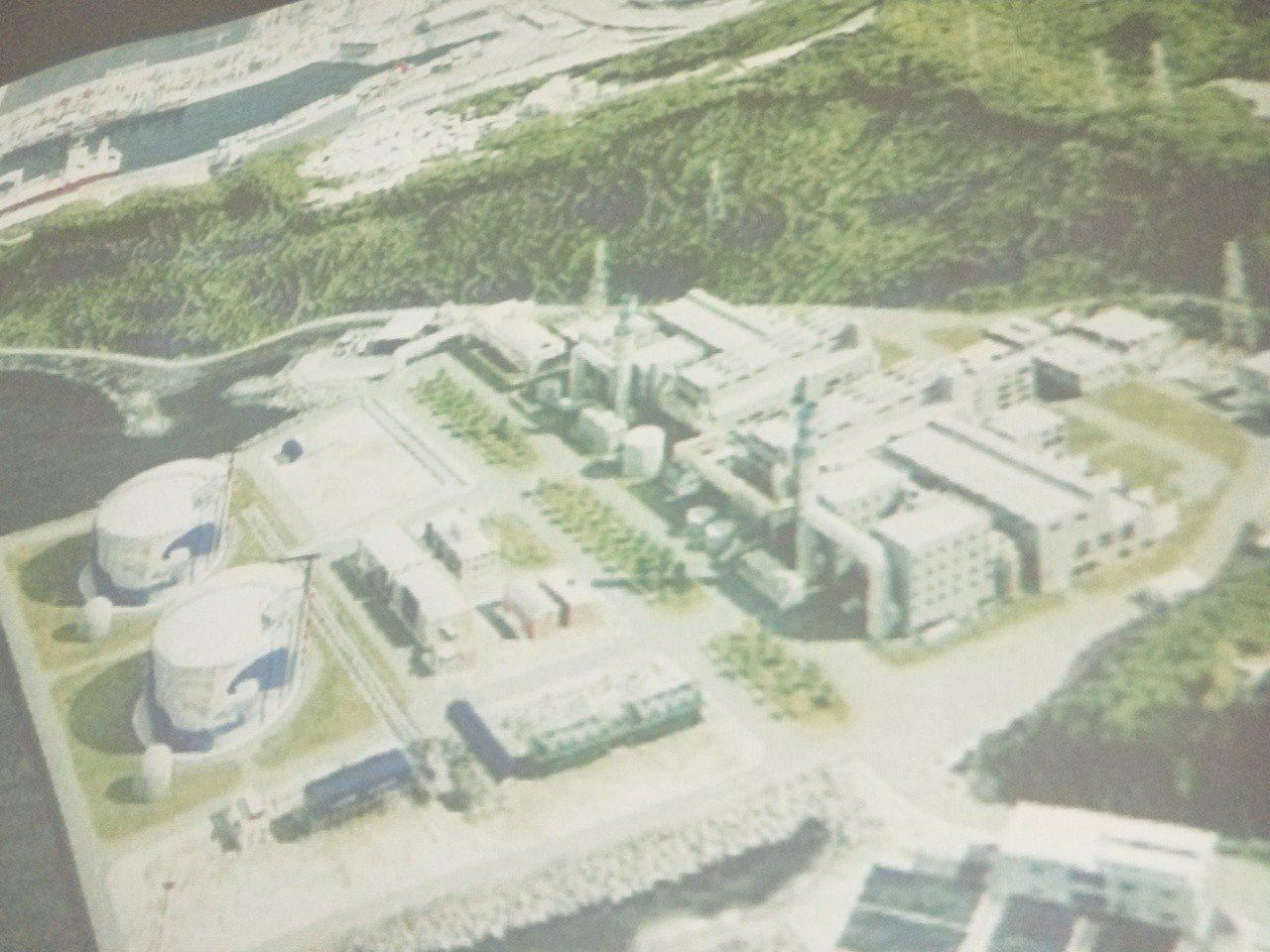 基隆市議會市政考察今天上午到台電協和發電廠了解空氣汙染控制及轉型天然氣廠規畫。記...