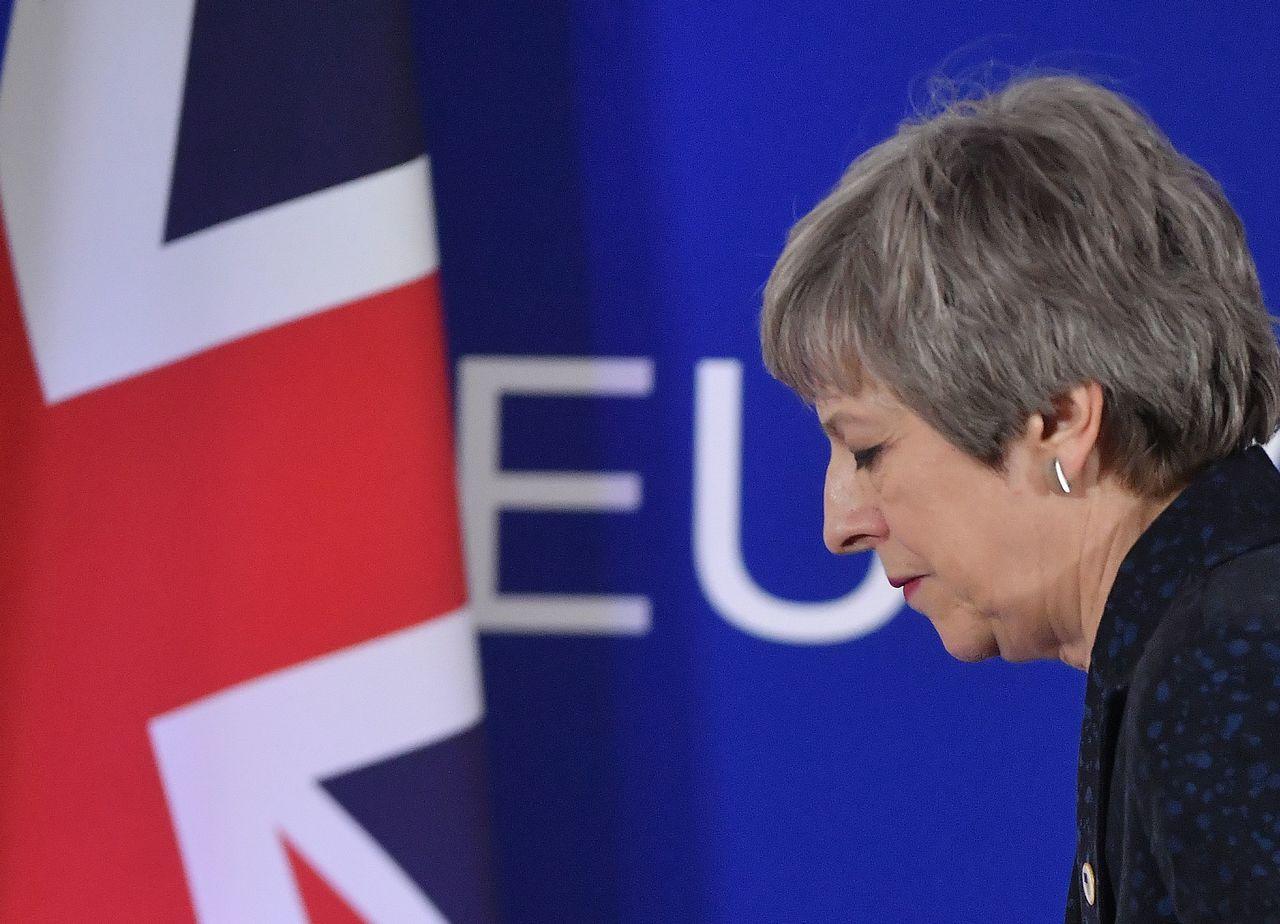 歐盟領袖開始準備,如果下周梅伊的脫歐協議第三度遭國會否決,梅伊恐怕會下台。(法新...