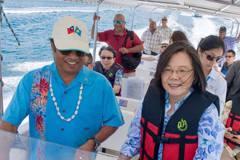 遊帛琉海豚灣 蔡英文:拚觀光賺好錢更勝賺快錢