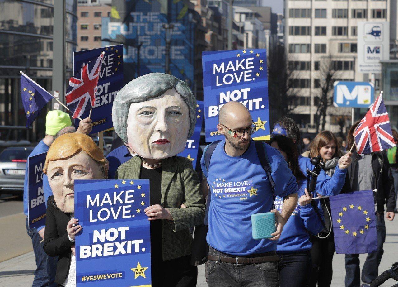 反脫歐聯盟的大批英國民眾今天將在倫敦市中心遊行。 歐新社
