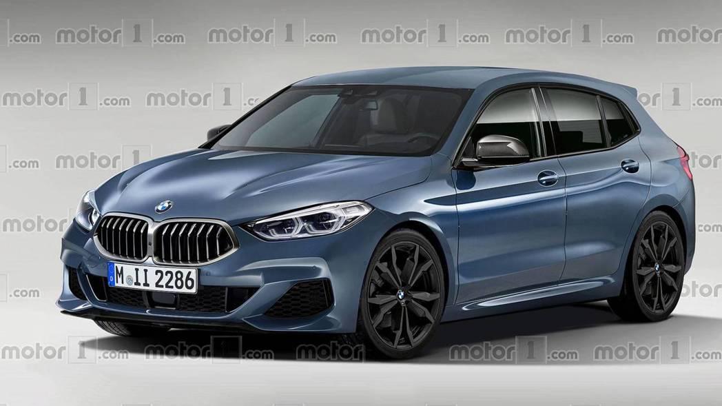 新世代BMW 1 Series預想圖。 摘自Motor 1