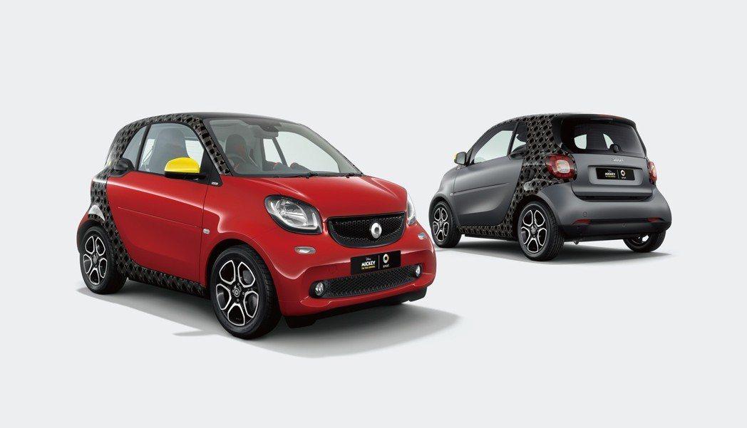 Smart在日本推出fortwo米奇90週年聯名紀念特仕車。 摘自Smart J...