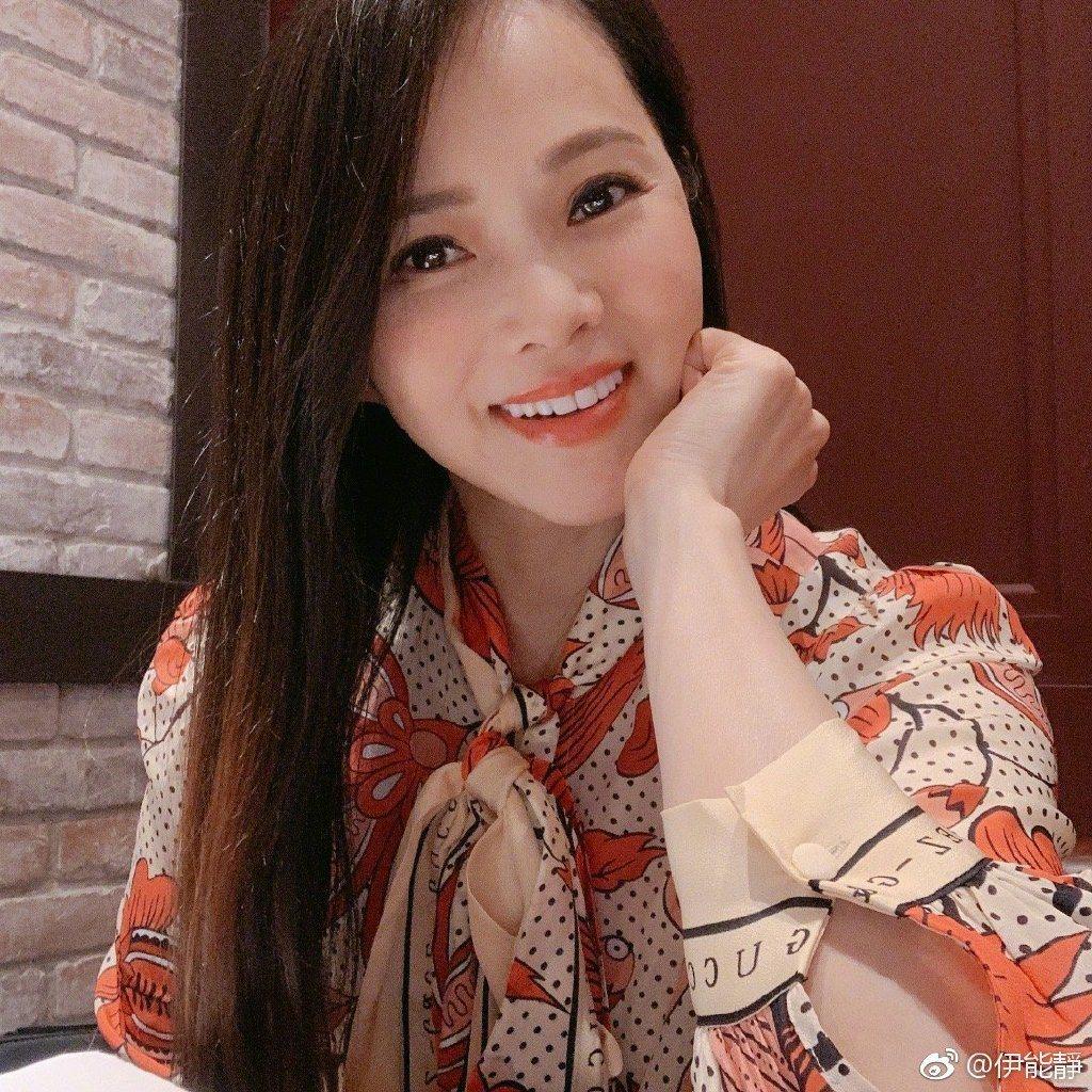 伊能靜常在微博發美照。圖/擷自weibo。