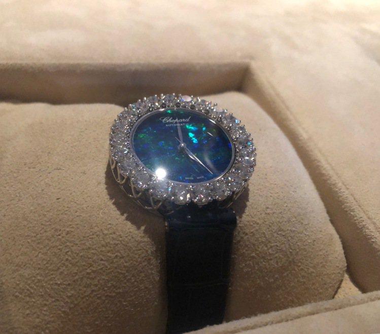 蕭邦LHeure du Diamant腕表鱷魚皮革表帶款,30毫米18K公平交易...