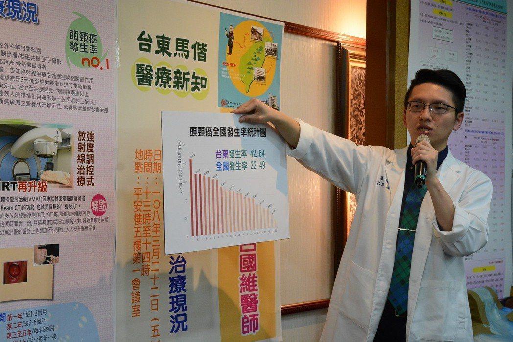 台東馬偕放射腫瘤科醫師呂國維,提醒民眾一旦罹患癌症,生活習慣的導正非常重要。圖/...
