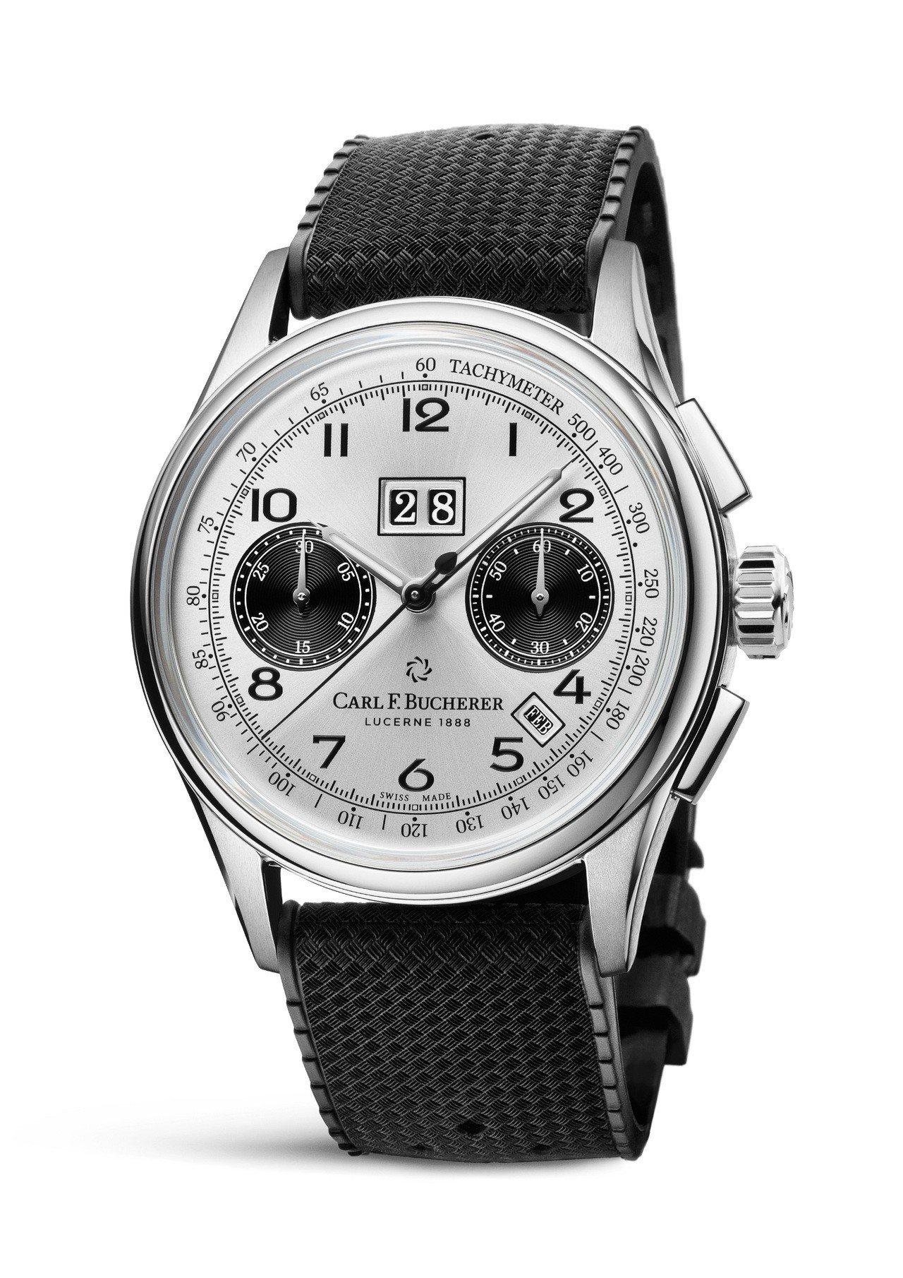 寶齊萊傳承系列年曆雙盤計時碼表精鋼款,41毫米精鋼表殼、CFB 1972自動上鍊...