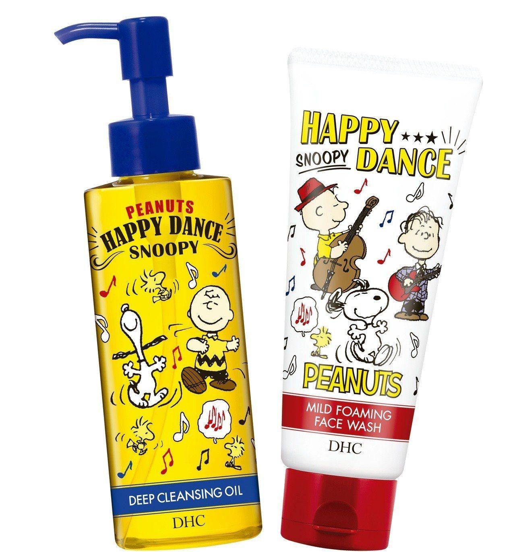 DHC史努比洗卸淨膚組合限定版,內含深層卸粧油(M)120ml、純欖滋養洗面乳1...