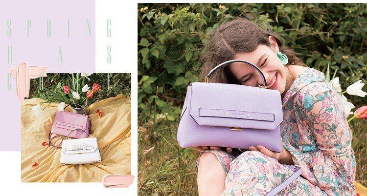Samantha Thavasa春季推出馬卡龍的粉嫩色系包款。圖/Samanth...