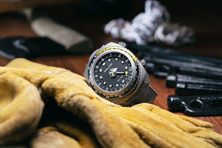 域峰Harpoon黑面潛水腕表,46毫米精鋼表殼、FL301自動上鍊機芯,14萬...