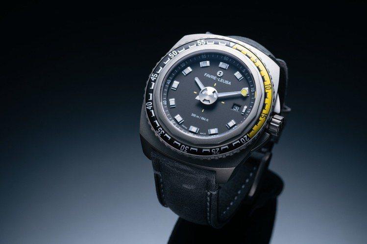 域峰Deep Blue黑面潛水腕表,41或44毫米精鋼表殼、自動上鍊機芯,79,...