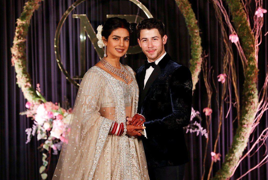 琵豔卡喬普拉與尼克強納斯的印度婚禮,沒見到英國皇室貴賓。圖/路透資料照片
